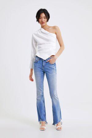 Zara Jeans zw premium skinny flare sunrise blue