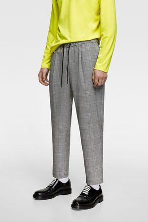 Zara Geruite broek met joggingtaille