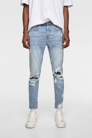Zara Skinny jeans met dripping effect