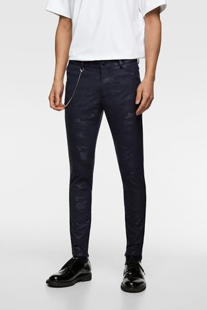 Zara Extra skinny broek met camouflageprint