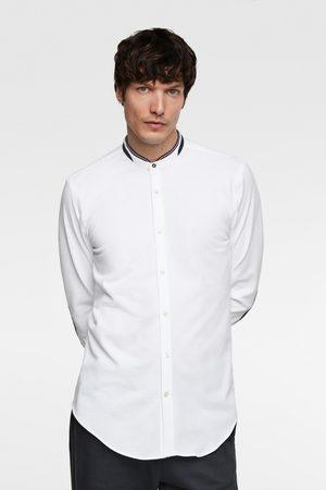 Zara Piqué overhemd met elleboogstukken