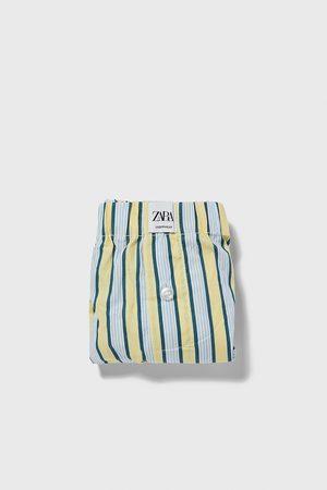 Zara Popeline boxershort met strepen