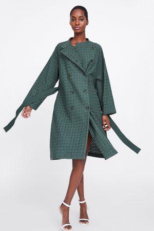 Zara Double-breasted trenchcoat met borduursels