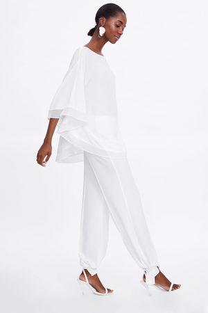 Zara Dames Blouses - Soepelvallende blouse in laagjes