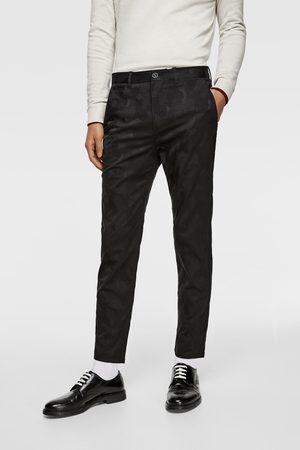 Zara Heren Pantalons - Jacquard broek met camouflageprint