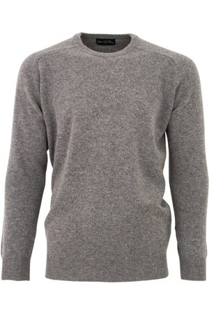 Alan Paine Trui grey mix classic fit ronde hals