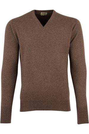 William Lockie Heren Truien - Trui v-hals cashmere