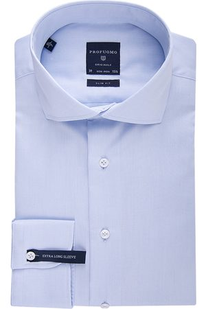 Profuomo Shirt slim fit blue mouwlengte 7
