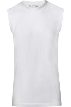 Slater Tanktop white 100% cotton sleeveless
