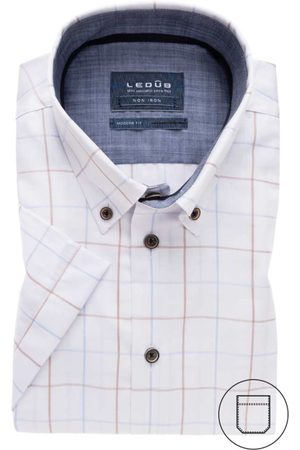Ledub Overhemd korte mouw button down