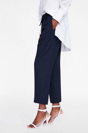 Zara Dames Pantalons - Broek met elastische tailleband