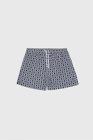 Zara Zwemshort met geometrische print