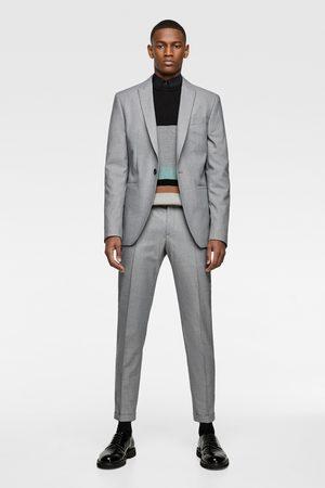 Zara Kostuumblazer met panamastructuur