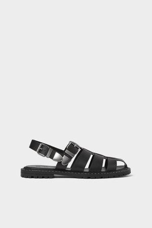 Zara Zwarte sandalen met studs