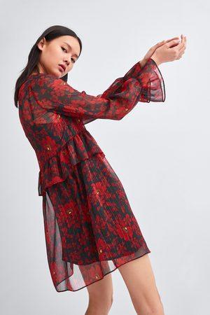 Zara Geprinte jurken - JURK MET BLOEMENPRINT
