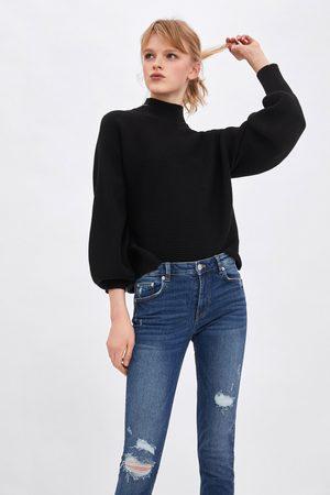 Zara Skinny compact jeans met halfhoge taille
