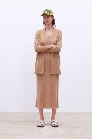Zara Dames Vesten - Tricot vest met splitjes