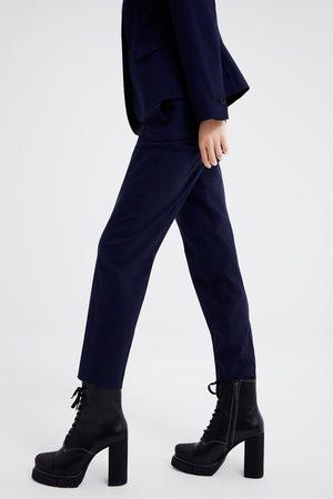 Zara Geruite skinny broek