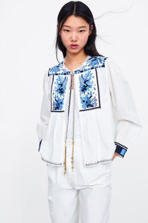 Zara Vest met borduursels