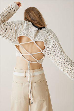 Zara Studio cropped trui met structuur limited edition