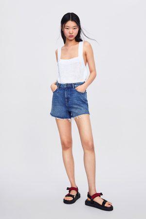 Zara Short high-waist soma blue