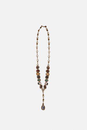 Zara Combi-ketting met extra grote siersteen limited edition