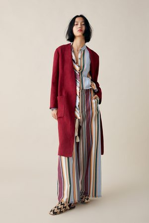 Zara Linen coat with pockets