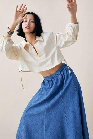 Zara Rok zw premium swing denim cool blue