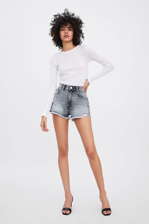 Zara Denim short met halfhoge taille
