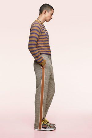 Zara Geruite broek met zijstrook