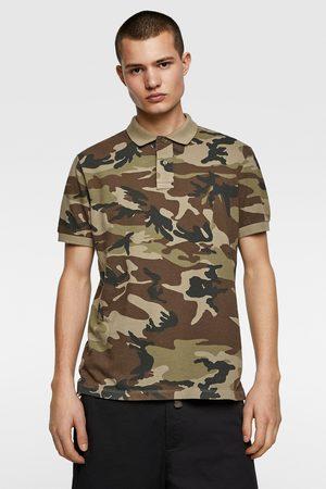Zara Polo met camouflageprint