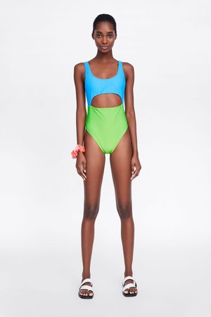 Zara Colour block swimsuit