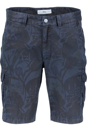 Brax Navy bermuda met print regular fit