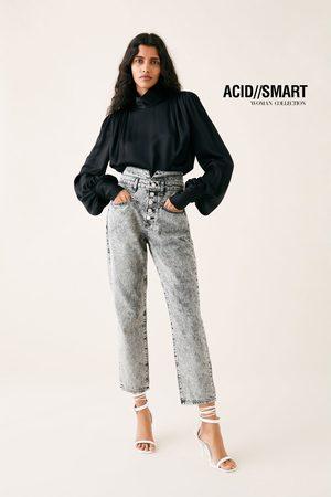Zara Jeans zw premium 80's straight acid black