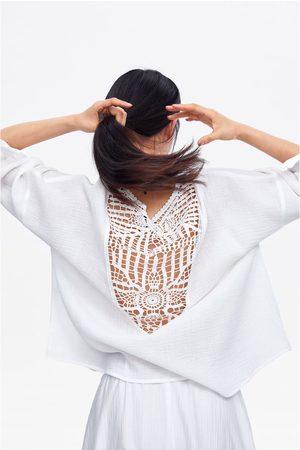 Zara Blouse van gecombineerde stof