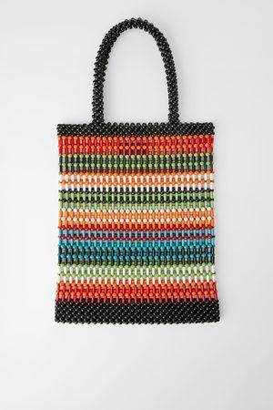 Zara Shopper met gekleurde bolletjes