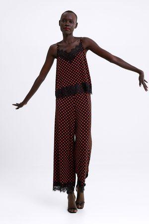 Zara Top in lingeriestijl met kant
