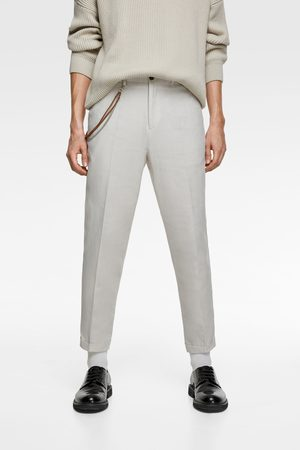 Zara Heren Pantalons - Carrot fit broek met ketting