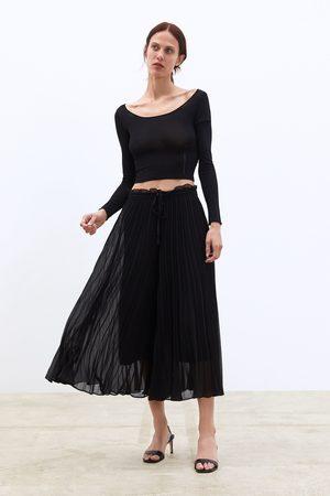 Zara Geplooide culotte-broek