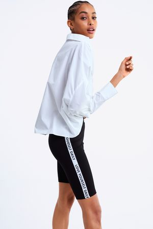 Zara Slogan taped leggings