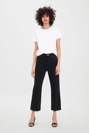 Zara Rechte edited jeans met hi-rise