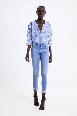 Zara Dames Skinny - Skinny jeans z1975 met zijstrook
