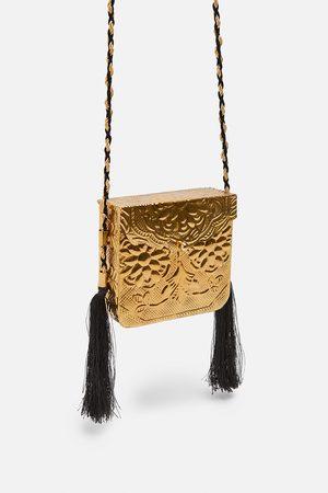 Zara Special edition embossed gold handbag