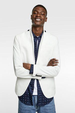 Zara Textured piqué blazer