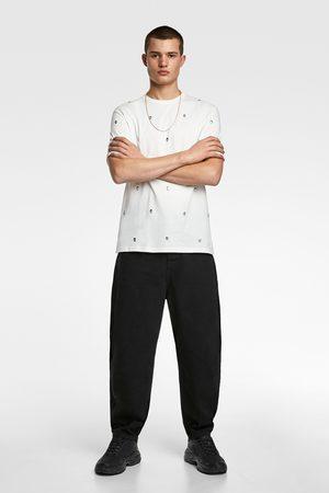 Zara T-shirt met studs