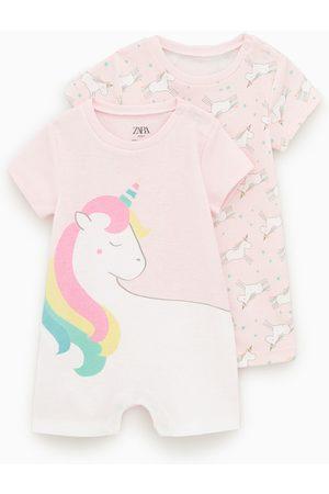 Zara Set van twee pyjama's met eenhoorns