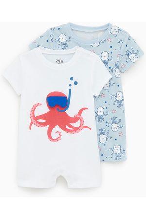 Zara Set van twee pyjama's met inktvissen