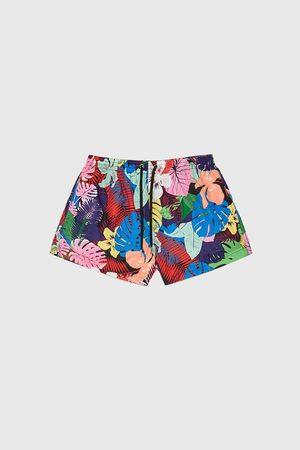 Zara Zwemshort met tropische print