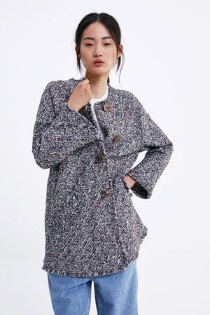 Zara Tweed jas met knopen