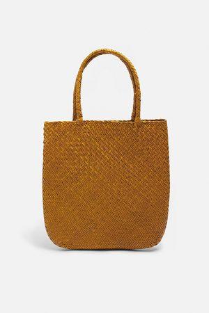 Zara Grote gevlochten tas